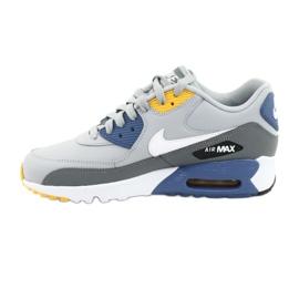 Buty Nike Air Max 90 Ltr Gs Jr 833412-026 białe niebieskie szare 2