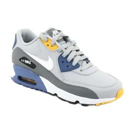Buty Nike Air Max 90 Ltr Gs Jr 833412-026 białe niebieskie szare 1