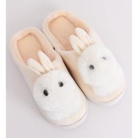 Kapcie damskie króliczki beżowe MA01 Beige beżowy 4