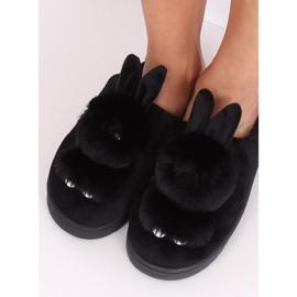 Kapcie damskie króliczki czarne MA01 Black 2