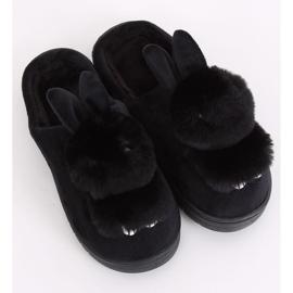 Kapcie damskie króliczki czarne MA01 Black 4