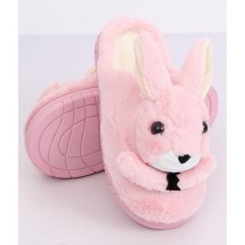 Kapcie damskie króliczki jasny róż MA17 Pink różowe 4
