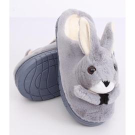 Kapcie damskie króliczki szare MA17 Grey 4
