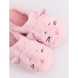 Kapcie damskie różowe MA16 Pink 4