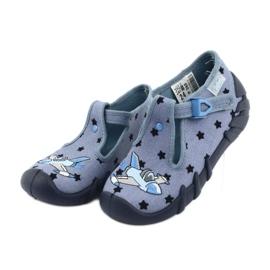 Befado kolorowe obuwie dziecięce 110P345 niebieskie 4