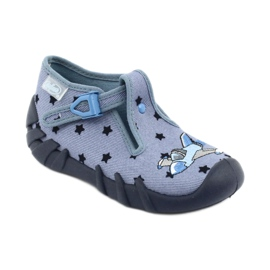 Befado kolorowe obuwie dziecięce 110P345 niebieskie 2