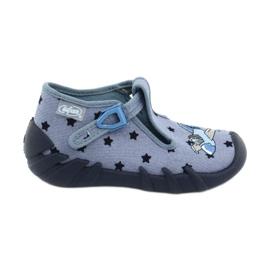 Befado kolorowe obuwie dziecięce 110P345 niebieskie 1