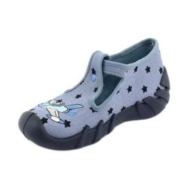 Befado kolorowe obuwie dziecięce 110P345 niebieskie 3