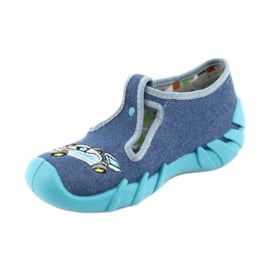 Befado obuwie dziecięce 110P320 niebieskie 2