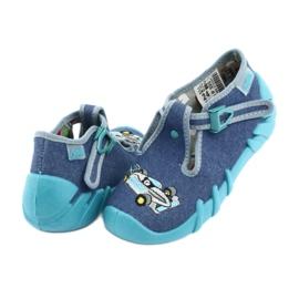 Befado obuwie dziecięce 110P320 niebieskie 4