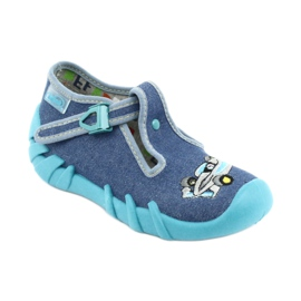 Befado obuwie dziecięce 110P320 niebieskie 1