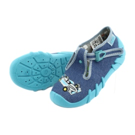 Befado obuwie dziecięce 110P320 niebieskie 5