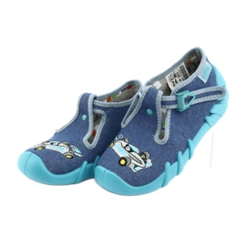 Befado obuwie dziecięce 110P320 niebieskie 3