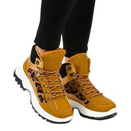 Brązowe damskie sneakersy ocieplane F-19208-3 1