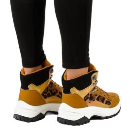Brązowe damskie sneakersy ocieplane F-19208-3 3