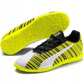 Buty piłkarskie Puma One 5.4 It Jr 105664 04 żółte wielokolorowe 3