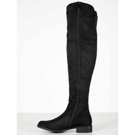 Ideal Shoes Muszkieterki Ze Wstążką czarne 2