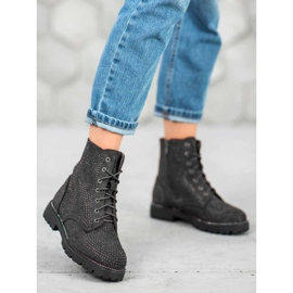 Sweet Shoes Czarne Zamszowe Botki 3