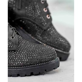 Sweet Shoes Czarne Zamszowe Botki 6
