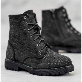 Sweet Shoes Czarne Zamszowe Botki 1