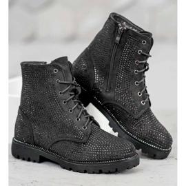Sweet Shoes Czarne Zamszowe Botki 5