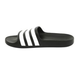 Klapki adidas Adilette Aqua K Jr F35556 białe czarne 2