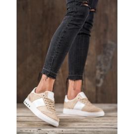 Emaks Sneakersy Z Dżetami brązowe 6