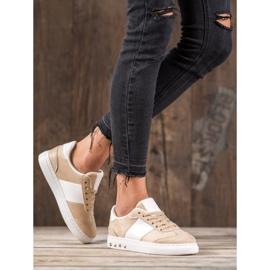 Emaks Sneakersy Z Dżetami brązowe 5