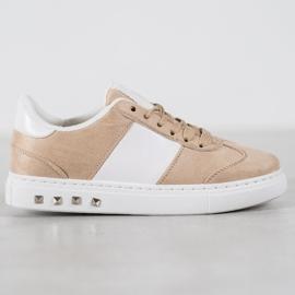 Emaks Sneakersy Z Dżetami brązowe 1