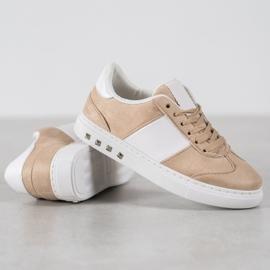 Emaks Sneakersy Z Dżetami brązowe 2