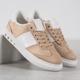 Emaks Sneakersy Z Dżetami brązowe 3