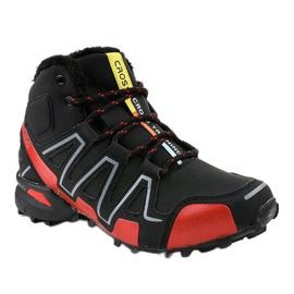 Czarne obuwie trekkingowe ocieplane BN8810 1