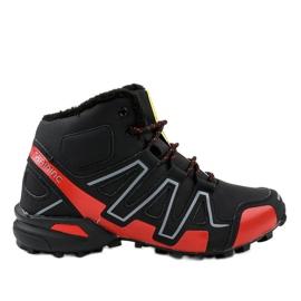 Czarne obuwie trekkingowe ocieplane BN8810 2