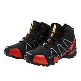 Czarne obuwie trekkingowe ocieplane BN8810 3