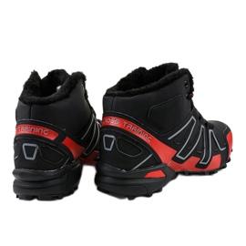 Czarne obuwie trekkingowe ocieplane BN8810 4