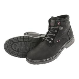 Trzewiki męskie American club RH35 czarny czarne 4