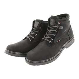 Trzewiki męskie American club RH35 czarny czarne 3
