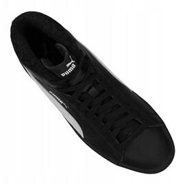Buty Puma Smash V2 Mid L Fur Jr 366895-05 czarne 2
