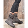 Ideal Shoes Workery Na Platformie szare 1