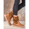 Ideal Shoes Workery Na Platformie brązowe 5
