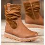 Ideal Shoes Workery Na Platformie brązowe 3