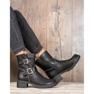 Lucky Shoes Workery Z Klamrami czarne 6