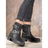 Lucky Shoes Workery Z Klamrami czarne 1
