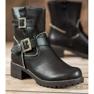 Lucky Shoes Workery Z Klamrami czarne 2