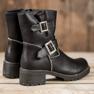 Lucky Shoes Workery Z Klamrami czarne 3