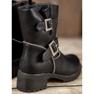 Lucky Shoes Workery Z Klamrami czarne 4