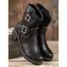 Lucky Shoes Workery Z Klamrami czarne 5