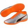 Buty piłkarskie M Puma One 4 Syn It 104750 01 srebrny pomarańczowy, szary/srebrny 4