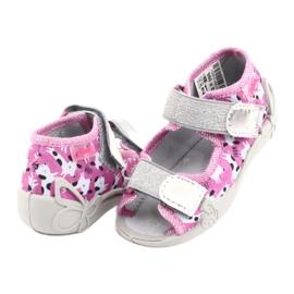 Befado obuwie dziecięce 242P095 białe czarne różowe szare 3