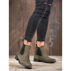 Ideal Shoes Casualowe Sztyblety zielone 3